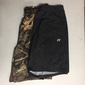 Russell Medium Lot of 2 Stretch Athletic Shorts